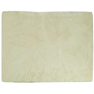 Tapis peau de bête rectangulaire gaspard écru 120x180