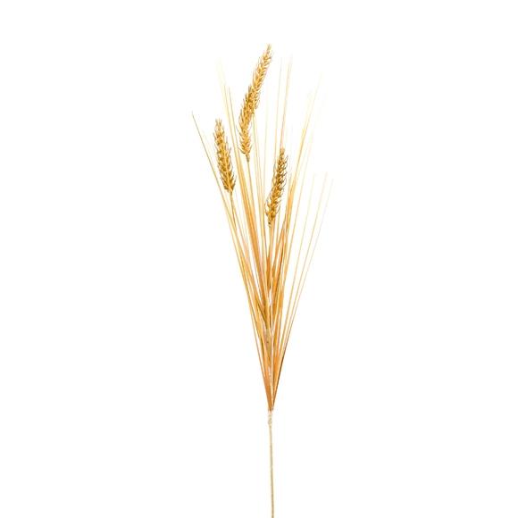 Lot de 4 tiges de blé crème artificielle 74cm