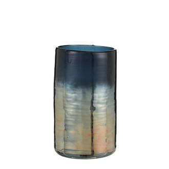 Vase en céramique bleu york h20xd12cm