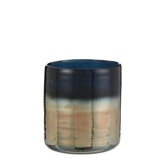 Vase en céramique york bleu h15xd14cm