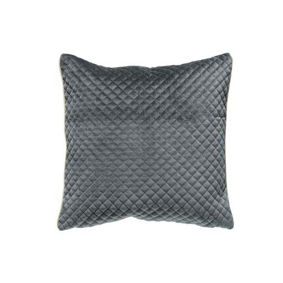 Cuscino quadrato in poliestere grigio 40x40cm