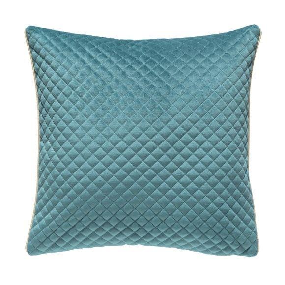 Cuscino quadrato in poliestere blu 40x40cm