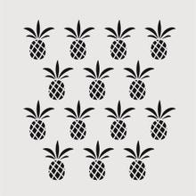Achat en ligne Pochoir ananas 9x9 cm