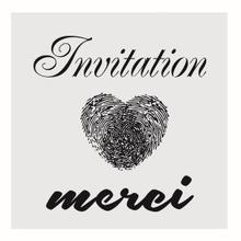 Achat en ligne Pochoir event invitation 9*9