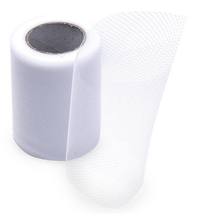 Achat en ligne Rouleau de tulle blanc 0,08x20m