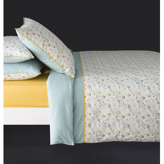 Taie 65x65cm percale happy paon