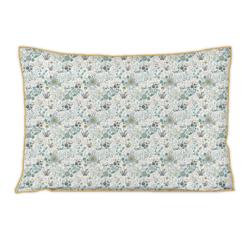 compra en línea Funda de almohada percal blanca floreada Happy (50 x 70 cm)