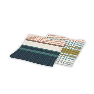 2 serviettes en coton 170g duomo peacock 40x40 cm