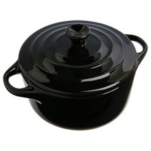 Achat en ligne Mini-cocotte céramique 10cm rouge ou noir ou gris