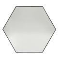 Miroir hexagone bord métal noir 80cm