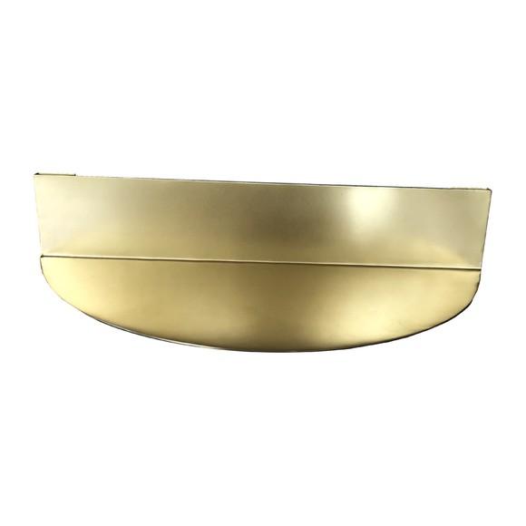 acquista online Mensola ottone bordo arrotondato 30x7x15cm