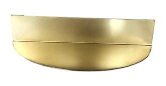Etagère laiton bord arrondi 30x7x15cm