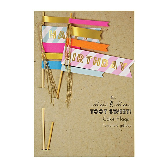 Decorazioni a bandierina tema buon compleanno