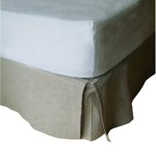 Achat en ligne Cache sommier beige 160X200cm Hauteur 30cm