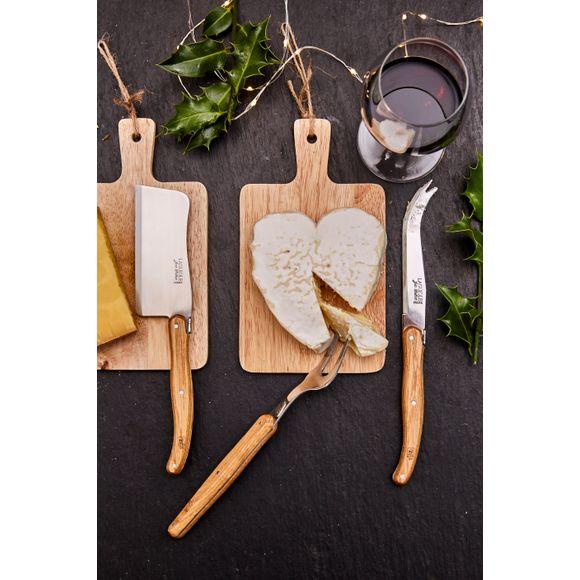 Set 3 coltelli da formaggio Laguiole in acciaio inox