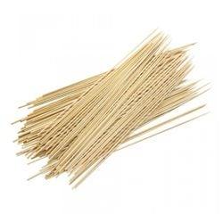 compra en línea Set de 100 palillos o pinchos de madera para brochetas (30 cm)