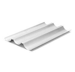 Achat en ligne Moule 3 baguettes perforé antiadhérent en aluminium 38cm