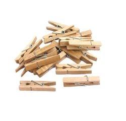 acquista online Indispensabili 50 mollette per biancheria in legno 4,5cm