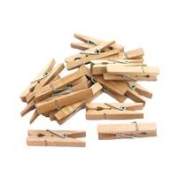 Achat en ligne Indispensables 50 pinces à linge en bois 4,5cm