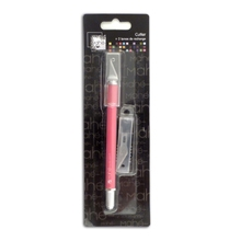 Achat en ligne Indispensables cutter de précision rose avec 2 lames