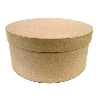 DECOPATCH - Boîte à chapeau à décorer en papier mâché Ø31cm