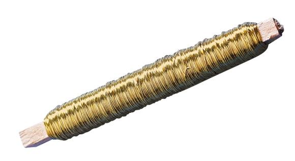 Achat en ligne Bobine de fil de fer à lier les fleurs or 100g