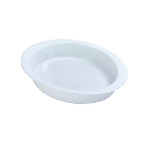 Teglia ovale in gres bianco 36 cm