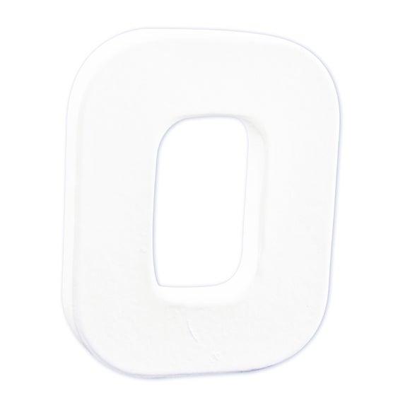Lettre O à décorer en papier mâché blanc 12cm