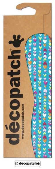 Achat en ligne Lot de 3 feuilles décopatch imprimé petit cœurs C410