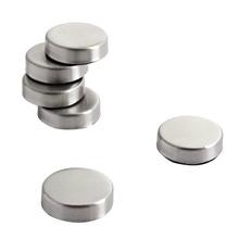 Achat en ligne Set de 6 magnets ovals en inox brossé 2,7cm