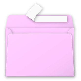 Paquet 20 enveloppes roses dragée 114x162mm