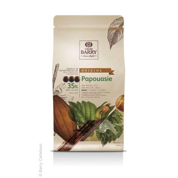 Chocolat de couverture au lait de Papouasie en pistoles 1kg