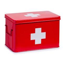 acquista online Scatola metallo rosso per farmaci 32x19,5x20
