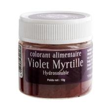 Achat en ligne Colorant alimentaire en poudre hydrosoluble violet 10g