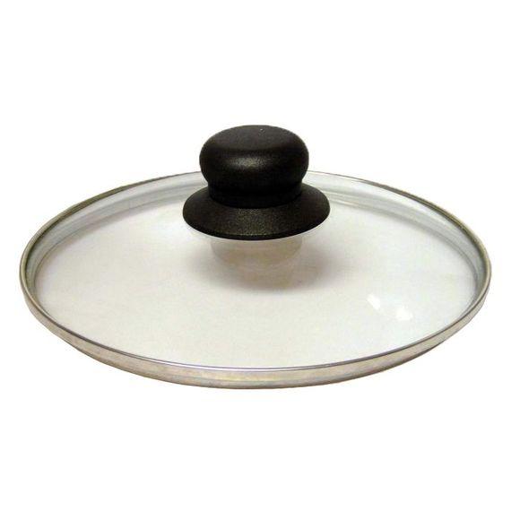 Coperchio in vetro con pomello in bachelite, 28 cm