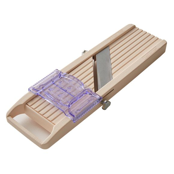 compra en línea Mandolina japonesa con 4 cuchillas intecambiables beige