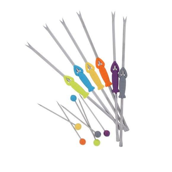 compra en línea Set de 6 tenedores de marisco o pincho para langosta de acero