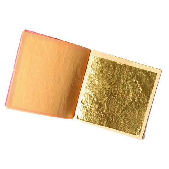 acquista online Set 5 fogli alimentari in oro 22 carati libro 0,10 g