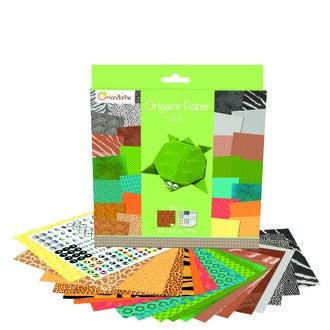 Set de 60 feuilles imprimées pour l'origami Zoo 20x20cm 70g