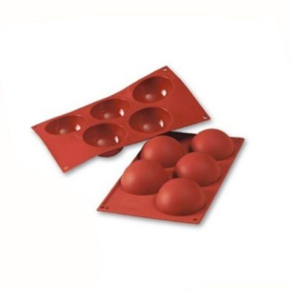 Stampo per 5 semisfera Siliconflex 8cm