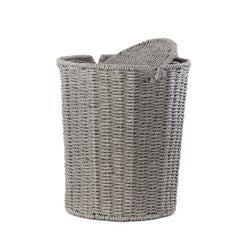 acquista online Cestino di vimini grigio
