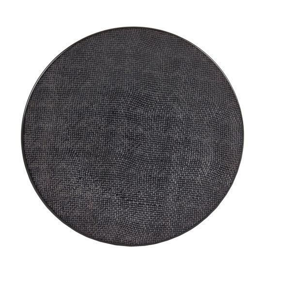 Assiette plate Vezuvio noire 26cm
