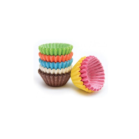 Set de 140 mini caissettes à chocolat multicolore 5cm