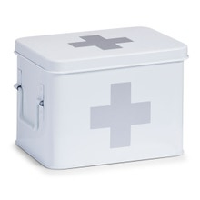 Achat en ligne Boîte à pharmacie en métal blanc 21x16x16cm