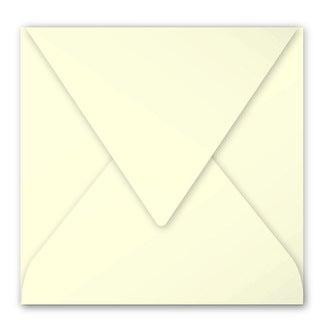 CLAIREFONTAINE - Paquet de 20 enveloppes ivoire 120g 165x165mm