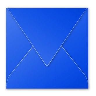 CLAIREFONTAINE - Paquet de 20 enveloppes bleu nuit 120g 165x165mm