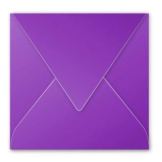 CLAIREFONTAINE - Paquet de 20 enveloppes carrées cassis 120g 165x165mm