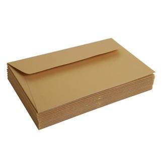 Lot de 20 enveloppes rectangle or 90x140 120gr