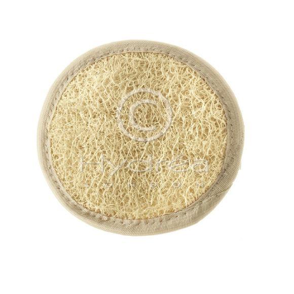 Eponge pour le visage-ronde en loofah et coton