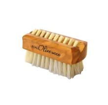 Achat en ligne Brosse à ongles en bois d'olivier et crin dur oblique